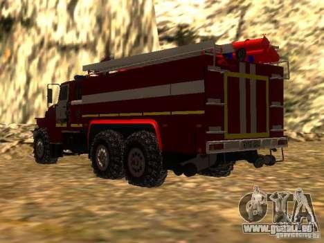 Ural 43206 AC 3.0-40 (6 x 6) pour GTA San Andreas laissé vue