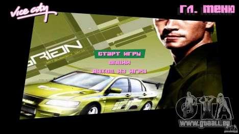 2 Fast 2 Furious Menu Brian pour GTA Vice City