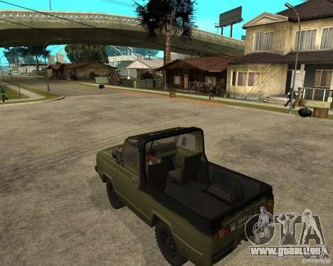UAZ-3907 Jaguar pour GTA San Andreas laissé vue