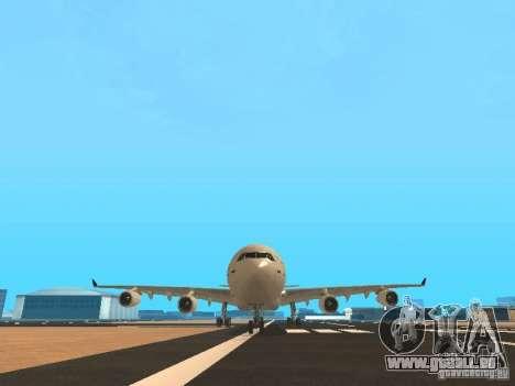 Airbus A340-300 Air Canada für GTA San Andreas Unteransicht