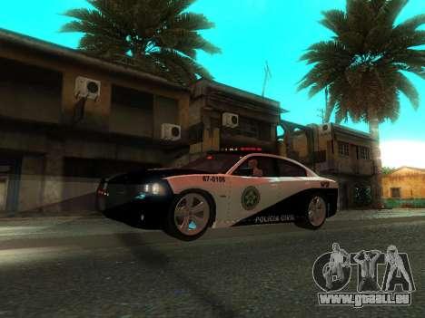Dodge Charger SRT8 Police für GTA San Andreas obere Ansicht