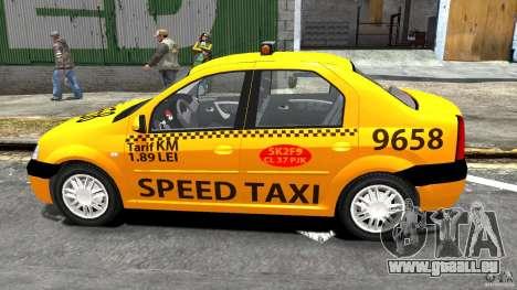 Dacia Logan Prestige Taxi für GTA 4 linke Ansicht
