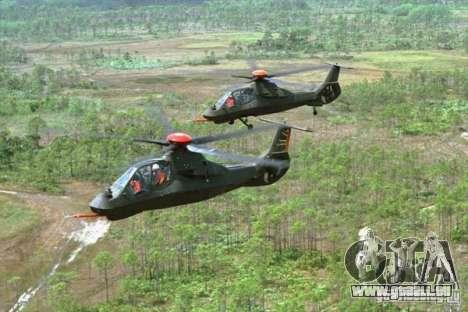 Sikorsky RAH-66 Comanche default grey pour GTA San Andreas vue de côté
