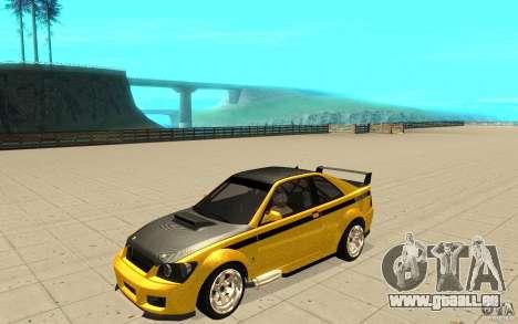 GTA IV Sultan RS FINAL pour GTA San Andreas vue de dessous