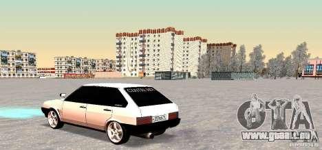 Côté Centre VAZ-2109i pour GTA San Andreas vue arrière