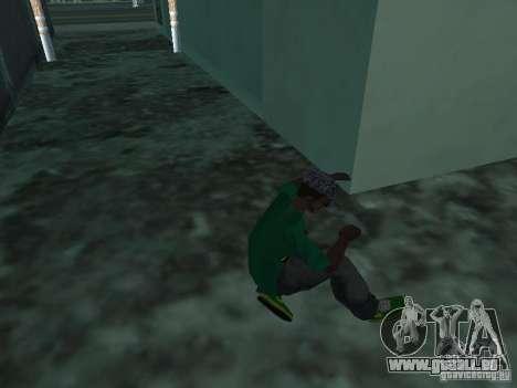 Neue grüne Laufschuhe für GTA San Andreas dritten Screenshot