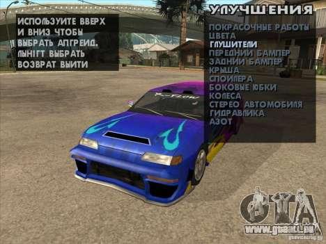 Mécanique d'accordage n'importe où pour GTA San Andreas sixième écran