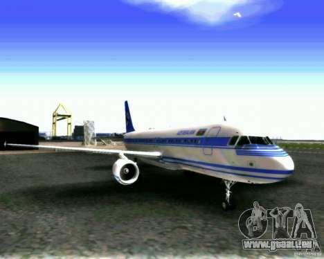 Airbus A-320 Azerbaijan Airlines pour GTA San Andreas laissé vue