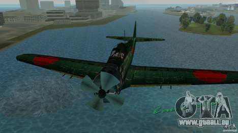Zero Fighter Plane für GTA Vice City Rückansicht
