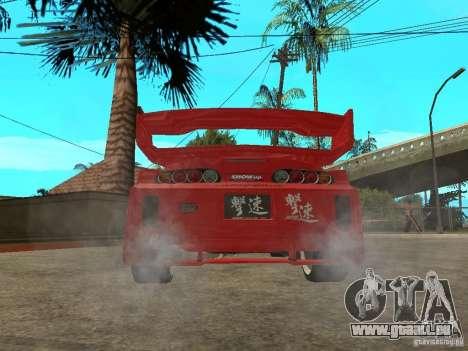 Toyota Supra Chargespeed pour GTA San Andreas sur la vue arrière gauche