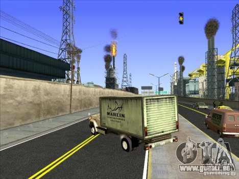 Yankee auf der Grundlage von GMC für GTA San Andreas rechten Ansicht