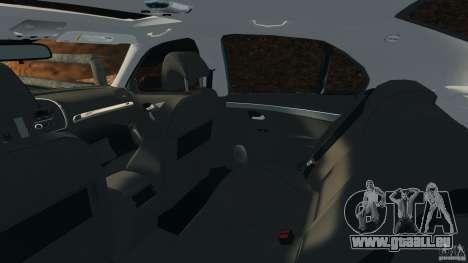 Saab 9-3 Turbo X 2008 pour GTA 4 est une vue de l'intérieur
