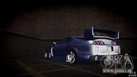 Toyota Supra Tuned für GTA San Andreas zurück linke Ansicht
