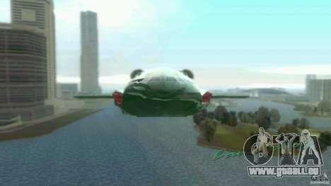 ThunderBird 2 pour une vue GTA Vice City de la gauche