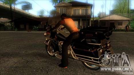 Harley Davidson pour GTA San Andreas sur la vue arrière gauche