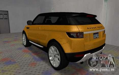 Land Rover Range Rover Evoque für GTA San Andreas linke Ansicht