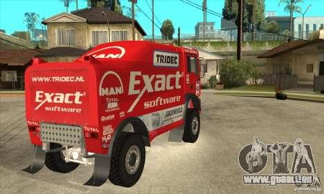 MAN TGA Rally OFFROAD für GTA San Andreas Rückansicht