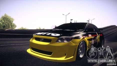 Scion TC Rockstar Team Drift pour GTA San Andreas vue arrière