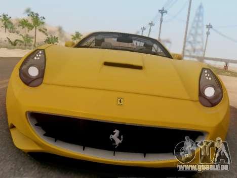 Ferrari California Hamann 2011 pour GTA San Andreas laissé vue