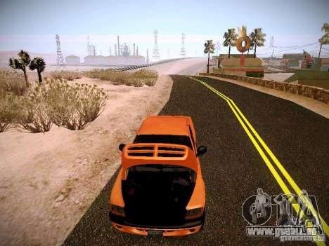 Dodge Ram 1500 Dacota pour GTA San Andreas vue de dessus