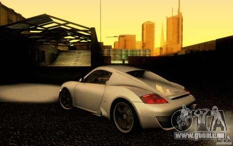 Ruf RK Coupe V1.0 2006 pour GTA San Andreas laissé vue