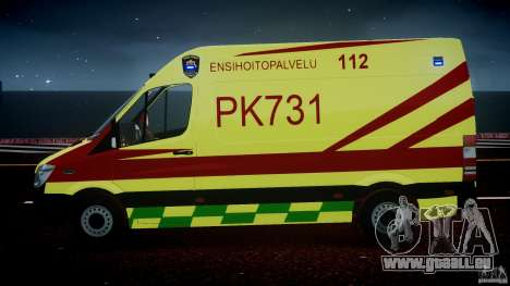Mercedes-Benz Sprinter PK731 Ambulance [ELS] pour GTA 4 Salon
