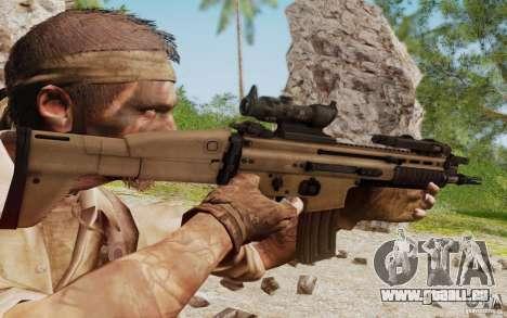 FN Scar L für GTA San Andreas fünften Screenshot