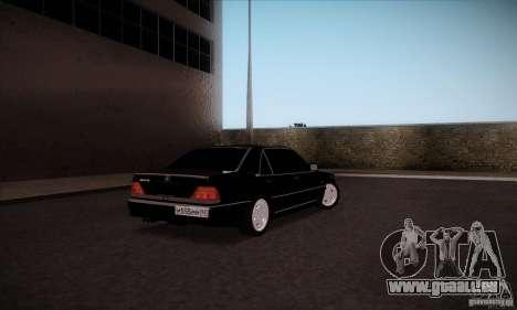 Mercedes-Benz 600SEL AMG 1993 pour GTA San Andreas sur la vue arrière gauche