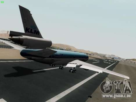 McDonell Douglas DC-10-30 KLM Royal Dutch für GTA San Andreas rechten Ansicht