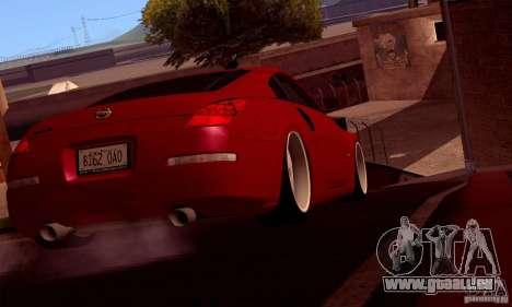 Nissan 350Z Stanceworks pour GTA San Andreas vue de droite