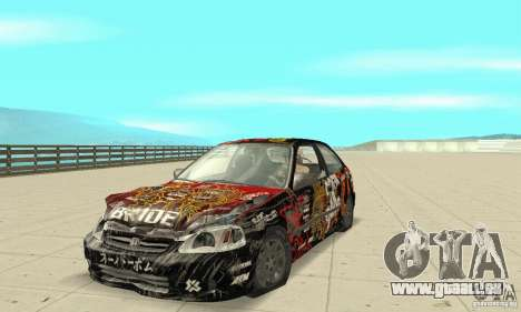 Honda-Superpromotion pour GTA San Andreas vue de côté