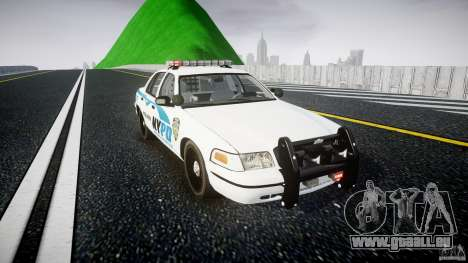 Ford Crown Victoria v2 NYPD [ELS] für GTA 4 Rückansicht