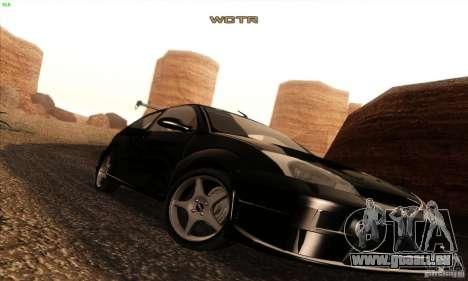 Ford Focus SVT TUNEABLE pour GTA San Andreas vue de dessus