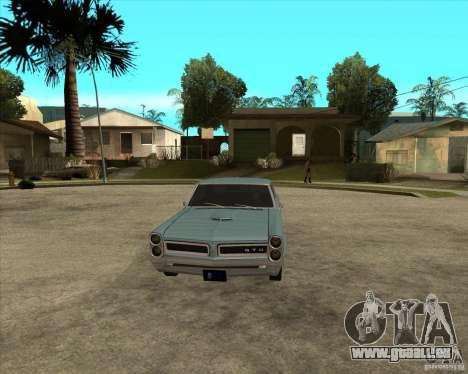 PONTIAC GTO 65 pour GTA San Andreas vue arrière