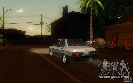 BMW E28 525e ShadowLine Stock pour GTA San Andreas vue de droite