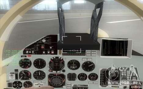 Le Su-37 Terminator pour GTA San Andreas vue arrière