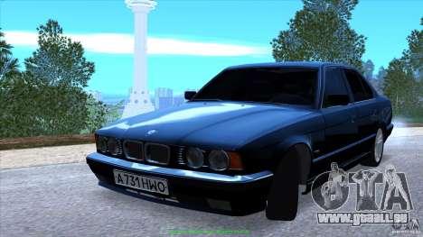 BMW E34 V1.0 pour GTA San Andreas vue de dessous
