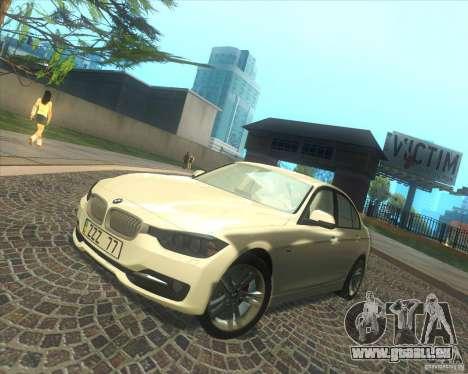 BMW 3 Series F30 2012 pour GTA San Andreas vue de dessous