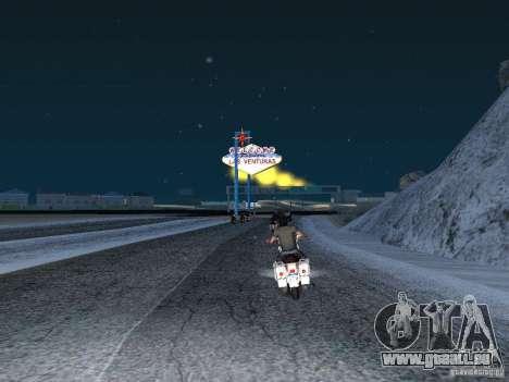 Neige pour GTA San Andreas troisième écran