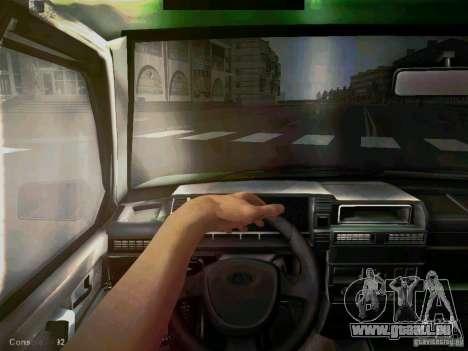 VAZ 2109 kurz-Kryloe Taxi für GTA San Andreas Rückansicht