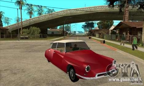 Citroen ID 19 pour GTA San Andreas vue arrière
