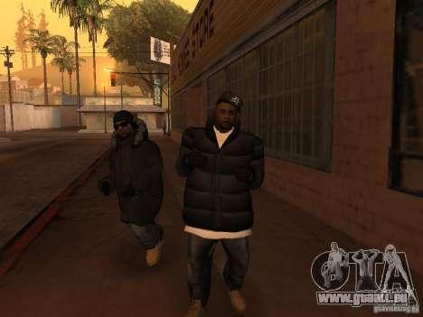 Vêtements d'hiver pour les Ballas pour GTA San Andreas cinquième écran