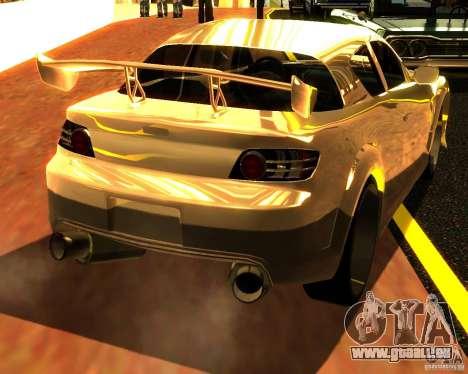 Mazda RX8 pour GTA San Andreas sur la vue arrière gauche