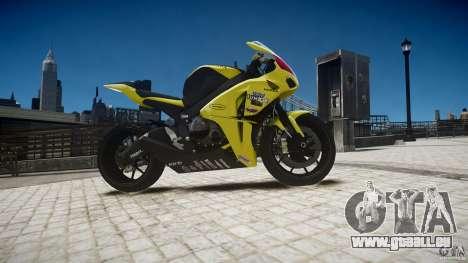 Honda CBR1000RR für GTA 4 Rückansicht