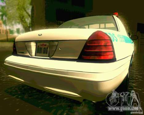 Ford Crown Victoria 2003 NYPD police pour GTA San Andreas vue arrière