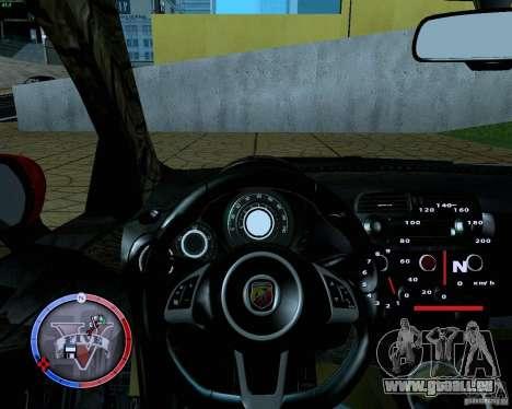 Fiat 500 Abarth für GTA San Andreas Rückansicht
