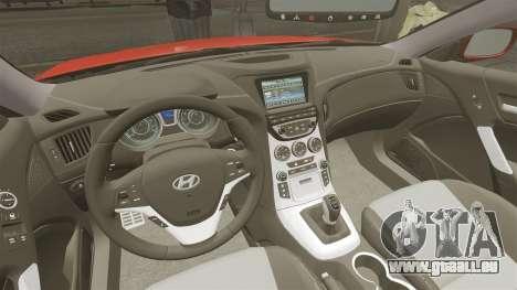 Hyundai Genesis Coupe 2013 pour GTA 4 Vue arrière