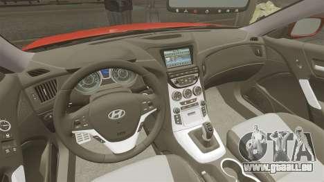 Hyundai Genesis Coupe 2013 für GTA 4 Rückansicht