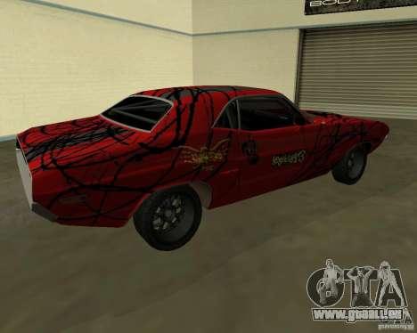 Dodge Challenger 1971 TeamGo für GTA San Andreas zurück linke Ansicht