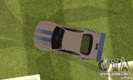 Nissan Skyline R-34 2Fast2Furious pour GTA San Andreas vue arrière